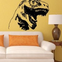 Wall Vinyl Decals Dinosaur Animal Sticker Art Home Modern Stylish Interior Decor for Any Room Housewares Murals Design Window Graphic Bedroom Living Room (5295)