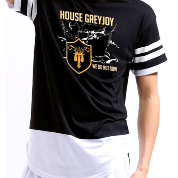 House Greyjoy we do not sow men Colorblock Shortsleeve shirt