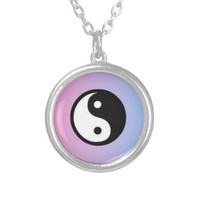Gradient Yin Yang Necklace