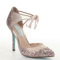 Blue by Betsey Johnson Stela Glitter Pumps | Dillards
