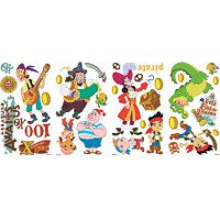Roommates Jake and the Neverland Pirates Peel & Stick Wall Decals
