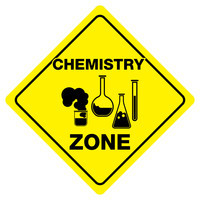 "CHEMISTRY ZONE Funny Novelty Crossing Sign 12""x12"""