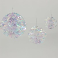 Iridescent Honeycomb Ball Set