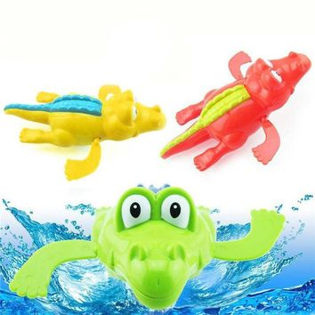 Swimming Pool beach 1Pc Baby Fun Swimming Clockwork Crocodile Bath shower Up Toys Educational Clockwork Game Play Pool Accessories for Children P4Swimming Pool beach KO_14_1