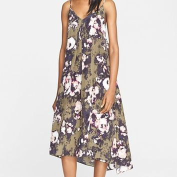 Women's Enza Costa Print Twill High/Low Dress