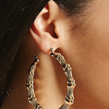 Bamboo-Inspired Hoop Earrings