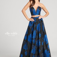 Ellie Wilde EW118147- Black/Royal Blue