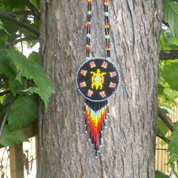 native american, turtle necklace,pow-wows, first nation