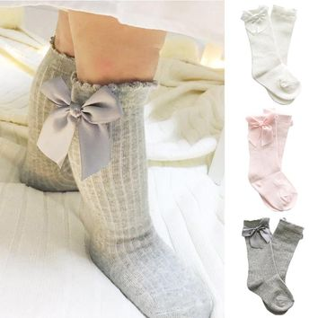 Baby Knee High Dress Socks With Bows
