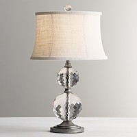 Lourdes Stacked Crystal Ball Table Lamp Base