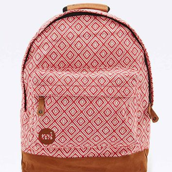 Mi-Pac Peruvian Diamonds Backpack in Red - Urban Outfitters