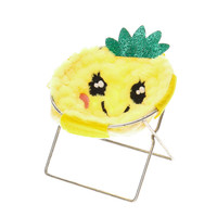 Furry Pineapple Phone Holder Chair