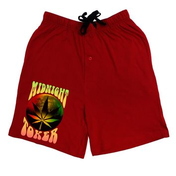Midnight Toker Marijuana Adult Lounge Shorts