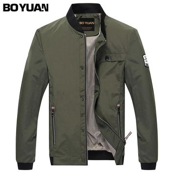 BOYUAN Men Military Army Jackets chaquetas de hombre Bomber Jacket Men jaqueta masculino Spring Autumn Jacket Coat Male H821
