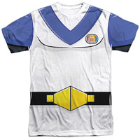 VOLTRON/LANCE COSTUME-S/S ADULT POLY CREW-WHITE