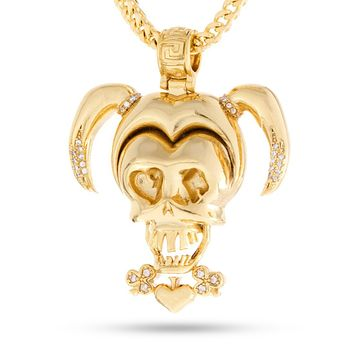 Suicide Squad x KING ICE - The Harley Quinn Necklace (Gold)