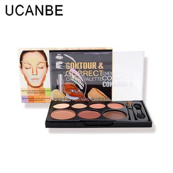 LMFOK2 OPAL FERRIE-New Cream Palette 4 Concealer+3 Brighten Contour & Correct Professional Makeup Cosmetic Highlight Long Lasting Concealer 7colors