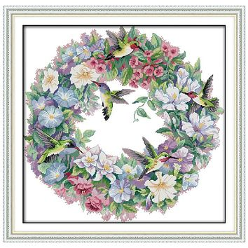 The Art of Hummingbirds(2) Counted Cross Stitch 11CT 14CT Cross Stitch Sets Animals Cross Stitch Kits Embroidery Needlework