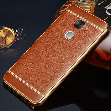 Luxury Litchi Grain Painting Soft TPU Back Cover Case For LETV LeEco Le 1S 2 Le 2 Pro 3 Pro3 X500 X520 X527 X620 X720 Phone Bag