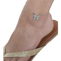 Rhinestone Bow Anklet | Shop Jewelry at Wet Seal