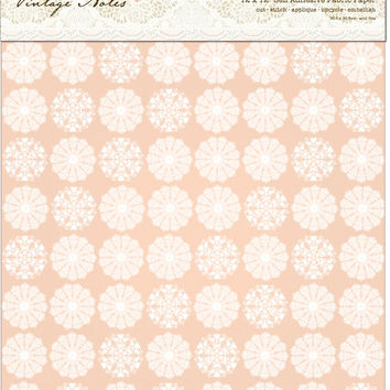 papermania vintage notes fabric paper-filigree