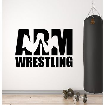 Vinyl Wall Decal Arm Wrestling Muscle Fitness Gym Sport Decor Stickers Mural (g794)