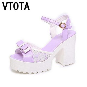 VTOTA 2017 Fashion Woman Sandals Flatform Women Summer Shoes Open Toe Sandals Thick He