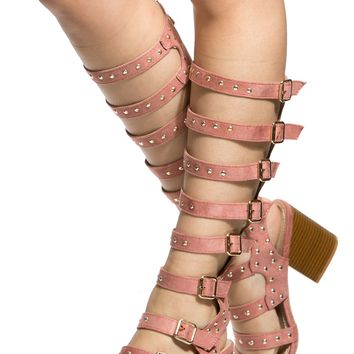 Pink Faux Suede Multi Buckle Chunky Knee High Boots @ Cicihot Boots Catalog:women's winter boots,leather thigh high boots,black platform knee high boots,over the knee boots,Go Go boots,cowgirl boots,gladiator boots,womens dress boots,skirt boots.