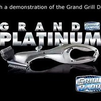 Grill Daddy Grand Grill Brush Platinum Edition - Steam-Clean BBQ without Chemicals - All-Metal Construction Durable - Safe for All Stainless Steel, Iron & Porcelain Barbecue Grates