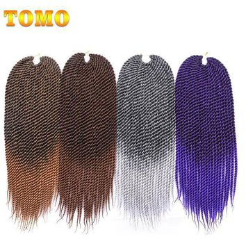CREY78W TOMO 22 inch Medium Ombre Crotchet Braids 22roots Kanekalon Synthetic Hair For Braiding Senegalese Twist Crochet Hair Weave