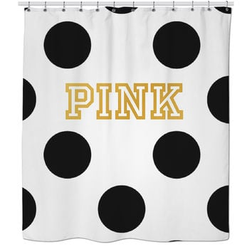 PINK Gold And Black Shower Curtain