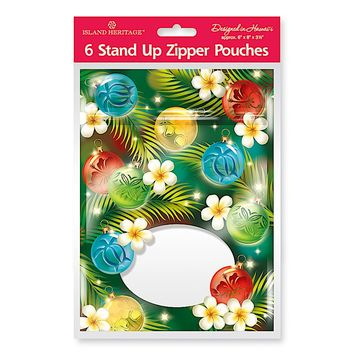 """""""Ornaments of the Islands"""" Zipper Gift Pouches"""