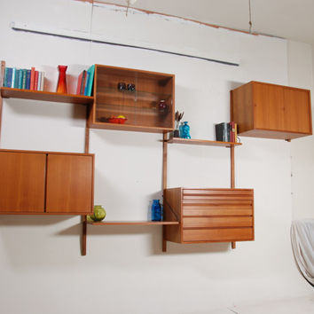 Mid Century Danish Modern CADO Wall Unit in Teak by Poul Cadovius