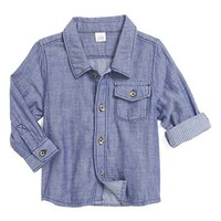 Nordstrom Baby Double Cloth Woven Shirt (Baby Boys)