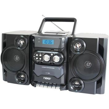 Naxa NPB428 Portable MP3-CD Player with AM-FM Radio & Detachable Speakers