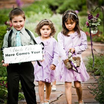 Uncle, Here comes your Girl - Here comes the bride - One sided - Wedding Sign, Flower Girl Sign, Ring Bearer, Aisle sign