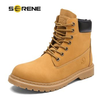SERENE Brand New Mens Winter Snow Motocycle Boots Military Tactical Male Safety Shoes Combat Timber Cowboy Army kanye West Bot