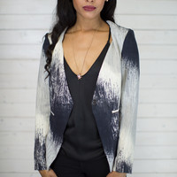 Light To Dark Printed Blazer