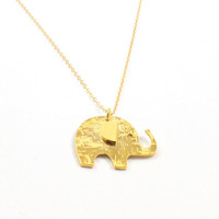 Elephant Pendant- Elephant necklace, Gold elephant necklace, Silver elephant necklace, Elephant jewelry, Animal jewelry