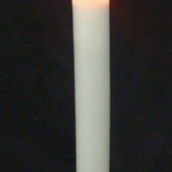 """8.75"""" Brass-Colored Flicker Flame Christmas Indoor Candle Lamp - Clear C7 Light"""