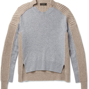 Burberry - Runway Two-Tone Panelled Cashmere Sweater
