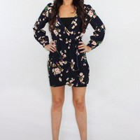 The Power Trip Floral Long Sleeve Dress