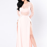 Take A Sip Dress - Blush