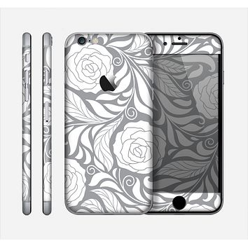 The Gray Floral Pattern V3 Skin for the Apple iPhone 6