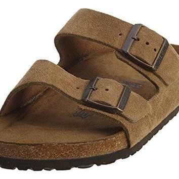 Birkenstock Arizona Soft Footbed Jasper Suede Mens