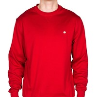 Cotton Boll Embroidered Crewneck Sweatshirt in Crimson by Cotton Brothers - FINAL SALE