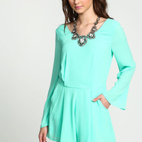 MINT MOD BOX PLEATED ROMPER