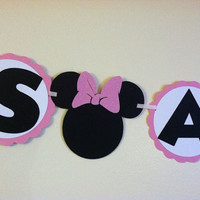 Minnie Mouse Baby shower banner - Its a girl banner, Baby shower Ideas, minnie baby shower, minnie sign