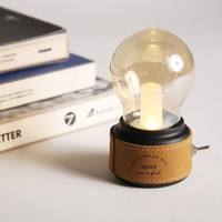 USB Desk Mini Light Bulb 0.1W 5V Leather Vintage Style