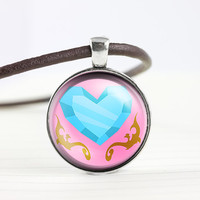 My little pony Princess Cadence cutie mark MLP pendant leather necklace - ready for gifting - buy 3 get 4th one free